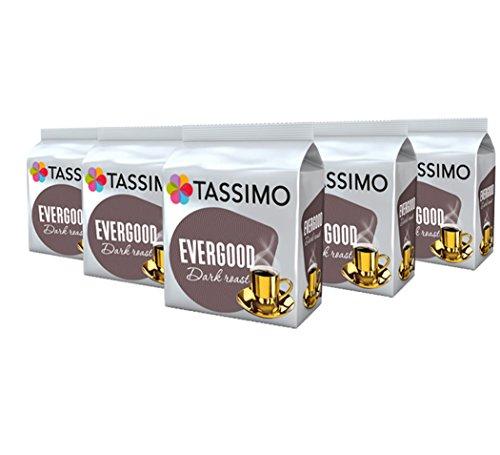 Tassimo Evergood Dark Roast, Kaffee, Gemahlener Röstkaffee, Kaffeekapsel, T-Disc, 16 Portionen