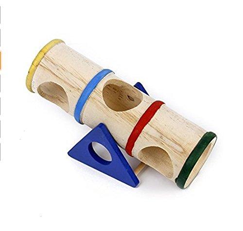 Isuper columpio de madera, multicolor para el juguete de hámster para los animales de compañía