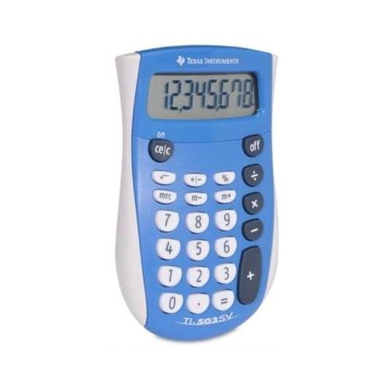 マニアック男やもめペレグリネーションTexas Instruments 503sv / FBL / 4l1?/ A ti-503?SV基本的な電卓8文字( S )?–?LCD?–?バッテリーPowered by Texas Instruments