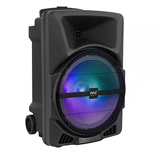 Pyle Wireless Portable PA Speaker System - 800W High Powered Bluetooth Compatible Indoor & Outdoor DJ Sound Stereo Loudspeaker with USB SD MP3 AUX 3.5mm Input, Flashing Party Light & FM Radio-PPHP1244B