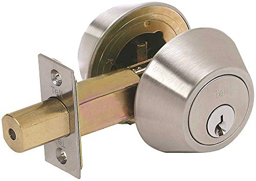 Tell Manufacturing Standard Duty Commercial Double Cylinder Deadbolt with Tubular Latch, C Keyway, Tested ANSI Grade 2, Certified UL 3 Hour Rating, Square Strike, CL100056 and CL500056, DB2000 Series