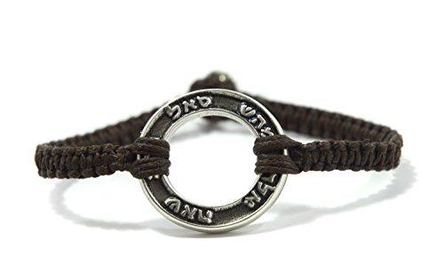 Mizze Made For Luck Jewelry - Braccialetto placcato argento con 72 nomi, colore: Marrone