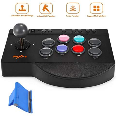 ZIHENGUO Manette de Jeu Filaire pour Manette de Jeu Arcade pour PC / PS3 / PS4 / Xbox One/Switch, avec Fonction Turbo et Macro (Pas de convertisseur OTG)