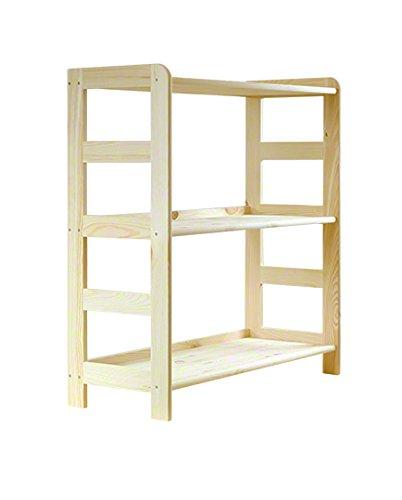 Estantería de madera de pino macizo, estantería para libros, oficina, modular R-* 8 variantes (R-01 x 89 x 63 x 33 cm)