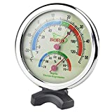 SunGrow Humidity and Temperature Meter, 3 Inches, Analog Gauges for Accurate Readings, Mea...