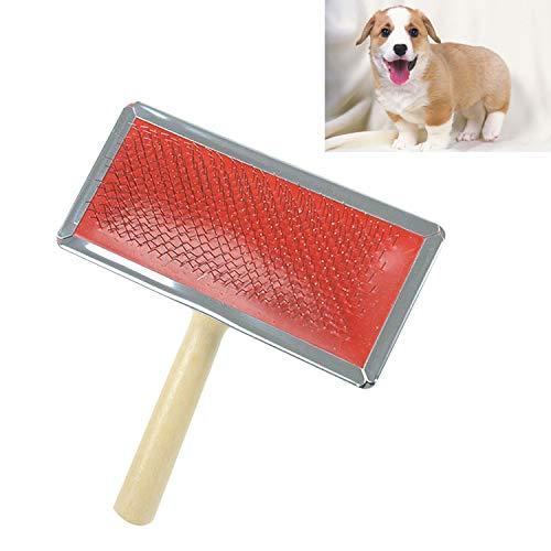 Not applicable Pet Haarentferner Weiche Kurve Needled Handbuch Bristles Grooming Reinigungsbürste mit Holzgriff for Pet, Größe: L, zufällige Farbe Lieferung