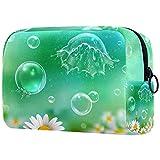 Neceser de viaje de la bolsa de maquillaje, resistente al agua, burbujas de jabón de nylon manzanilla 18.5x7.5x13cm