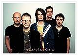 jiayouernv Britische Band Radiohead Poster Retro-Nostalgie
