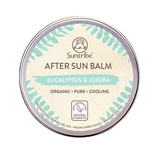 Suntribe Bio-Aftersunbalsam Eukalyptus & Jojoba - 100% Bio - Kühlend & Feuchtigkeitsspendend - Ohne Konservierungsstoffe - Normale/Empfindliche/Trockene Haut - 5 Inhaltsstoffe (100 ml)
