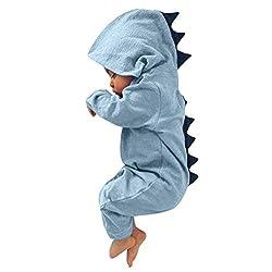 2. CKLV Store Baby Hooded Dinosaur Onesie