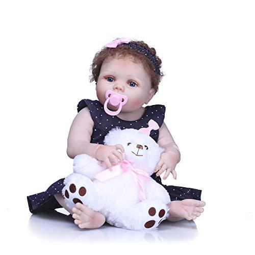 MaMaDolls Full Silicona Reborn Baby Dolls Recién Nacido Recién Nacido Niños Niña 23 '57cm Cuerpo de Vinilo Niños Muñeca de Baño Juguetes de Regalo Coleccionables