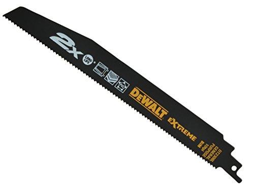 Dewalt DT2308L-QZ DT2308L-QZ-Hoja de Sierra Sable bi-Metal Extreme 2X de demolición, Longitud: 228mm, Paso de Diente: 1mm para Uso General, 0 W, 0 V