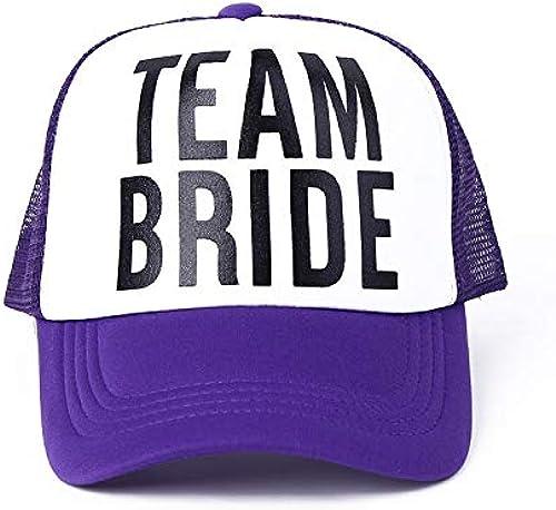 GMZXX Casquette de Baseball Chapeaux de Bachelor Femmes Casquettes de Camionneur Mariage mariagewear Ready engrener blanc Neon été
