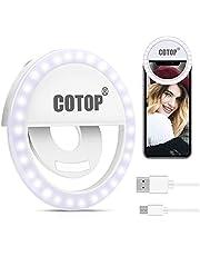 COTOP Mini Luce Selfie per Cellulare, Luce di riempimento per Selfie Ricaricabile con Clip di Fissaggio, Luce per videoconferenza per Telefono, Laptop, riunione con Zoom, Trucco