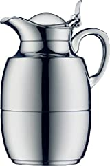 Classic alfi design with a chrome plated brass body and chrome plated metal handle and spout Alfi glass vacuum ware carafes have excellent insulation and temperature retention; Keeps HOT for 12 hours and COLD for 24 hours Unique alfi stopper system a...