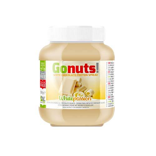 Daily Life Gonuts WhitePassion - Crema Spalmabile - Con il 25% di Proteine del Siero Del Latte Senza Olio di Palma e Zuccheri Aggiunti - 350 gr