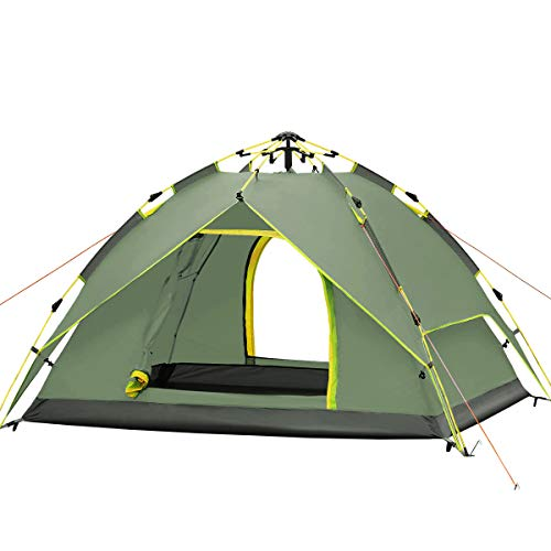 Qisan Hydraulic Dome Tent Canopy for Camping Automatic Waterproof Tents 3-4 Person Canopy Easy to...