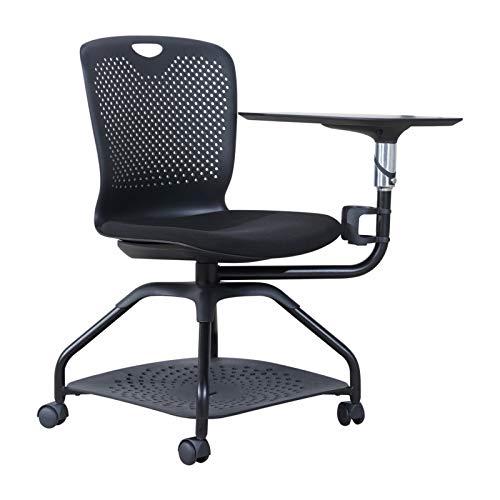 JJSFJH Sillas de oficina silla de oficina de Formación, plegable con silla de trabajo Presidente de la Conferencia de la tableta y la silla de ruedas Respaldo multifunción móvil de una sola pieza Sill