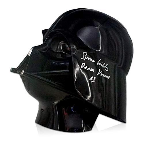 Spencer Wilding firmó el casco de Darth Vader. Recuerdos de