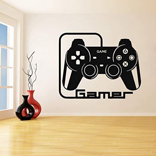 mlpnko Spielen Sie Game Controller Wandaufkleber Schlafzimmer Vinyl Aufkleber Wohnzimmer wasserdichte Dekoration 66X84cm