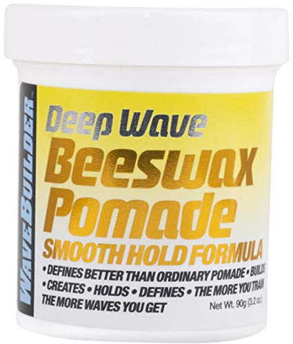 WaveBuilder Deep Wave Beeswax Pomade | Defines Better Than Ordinary Pomade to Promote Hair Waves, 3 Oz