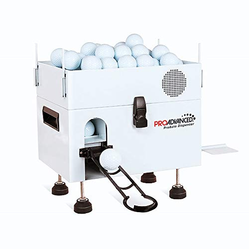 PROADVANCED ProAuto Dispenser - Large Capacity Portable Metal Golf Ball Dispenser - No Power Needed