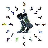 Sesto Senso® Lustige Socken Baumwolle Damen Herren Panda 1er oder 3er Paar Bunt Wadensocken Unisex Wunderliche Seltsame Ungerade Fun Socks (38-41, Panda)