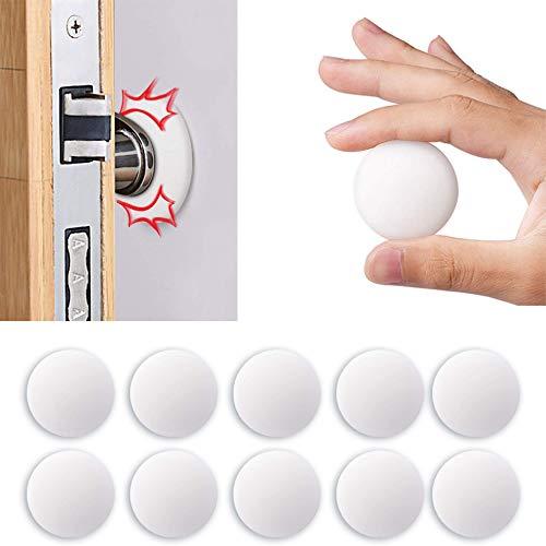 Door Stopper Wall, VIPMOON 10 PCS 1.57 Inch Door Bumper, Silicone Wall Protector, Door Knob Guard, Wall Protectors with Self Adhesive 3M Sticker for Protecting Wall, Doorknobs, Refrigerator Door