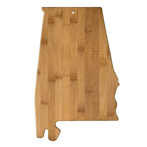 Totally Bamboo Alabama State Shaped Bamboo Serving & Cutting Board