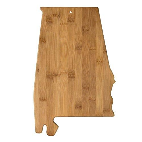 Totally Bamboo 20-7960AL Alabama State Shaped Bamboo Serving & Cutting Board