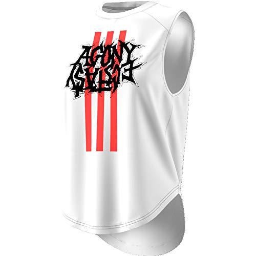 adidas Fast GFX Tank Camiseta De Tirantes, Mujer, Blanco, L