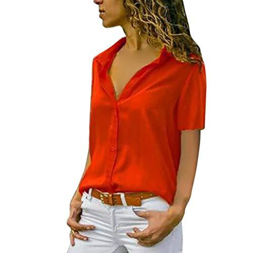 MRULIC Damen Shirt Tie-Bow Neck Striped Langarm Spleiß Bluse Gestreift Damen Tragen Tops Pullover(C-Rot,EU-38/CN-M)