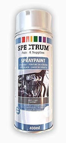 Lack Farbe Spruehlack Lackfarbe Acryllack 400 ml siber matt, matt Silber hitzebeständig 800 C