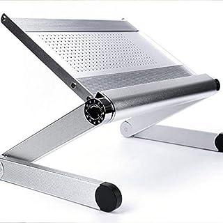 DPPD Soporte para portátil de Escritorio portátil Simple Soporte de elevación Plegable Base de radiador de Escritorio para computadora Soporte de Oficina Estante de radiador de pie para entreteni