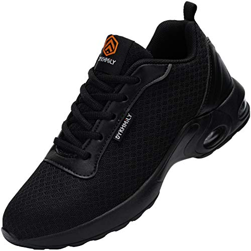 DYKHMILY Zapatillas de Seguridad Mujer Ligero, Air Cushion Zapatos de Trabajo con Punta de Acero Comodo Respirable Reflectante Calzado de Seguridad