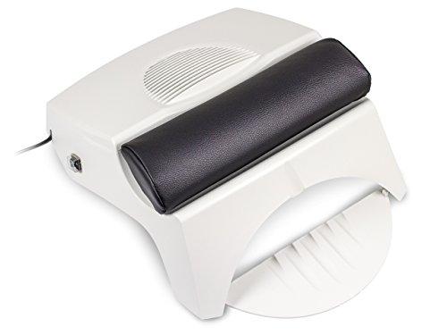 Professionelle Nagelstudio STAUBABSAUGUNG AIR BOOSTER - 3 in 1 - Absaugung + Nagellacktrockner + Armauflage - Pflegeleicht - Ergonomisch - Nageldesign Tisch-Absaugung - Nageltisch Absaugung