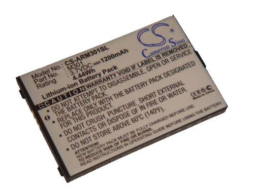 vhbw Li-Ion Akku 1200mAh (3.7V) kompatibel mit Handy, Smartphone, Handy Auro M301, MyPhone 8920, 8920 Mark, 8920TV Mark Pro Ersatz für M301.