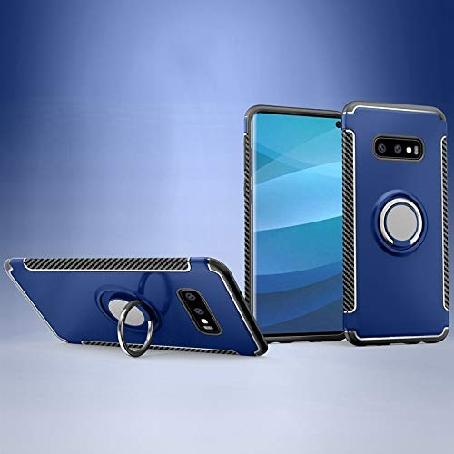V-MAXZONE Cases & Cover, funda de protección 2 en 1 con soporte giratorio de 360 grados y soporte magnético para coche compatible con Samsung Galaxy S10e (color azul marino) (color: azul)