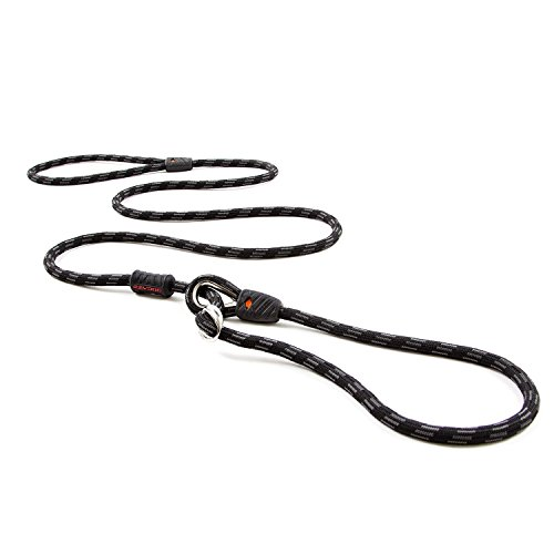 EzyDog Luca All-in-One Slip Collar Climbing Rope Dog Leash Combo - Best Dog Lead for Control, Training, Correction, and Exercising - Perfect for Medium and Large Dogs (Standard, Black)