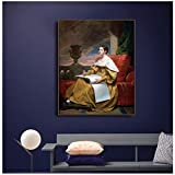 empty Samuel Morse《Susan Walker Morse. The Muse》Canvas Painting Artwork Picture Art Poster Modern Home Decoration -20x30 in No Frame