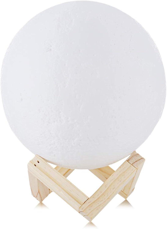 Wiederaufladbare 3D-Licht Drucken Mondlicht Touch-Schalter Mondlicht Schlafzimmer Tischlampe Blei Nachtlicht 3D-Licht Kreatives Geschenk (Farbe   DIA 20cm)