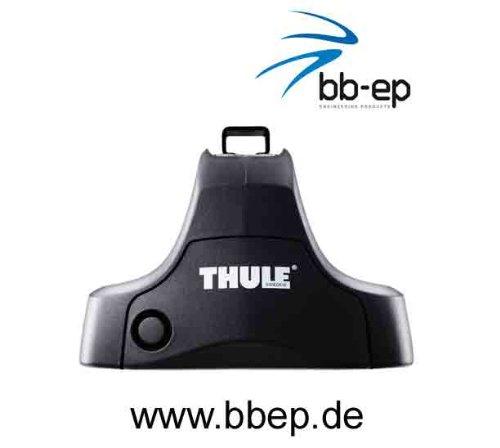 Thule Premium Dachträger / Lastenträger für Seat Ibiza (Typ 6L) – 3 und 5 Türer Schrägheck ab Baujahr 2002 bis 2007 - Komplettsystem bestehend aus Thule Fußsatz 754, Kit 1266 und Stahltraversen 761 Abschließbar inkl. Schlosssatz 544