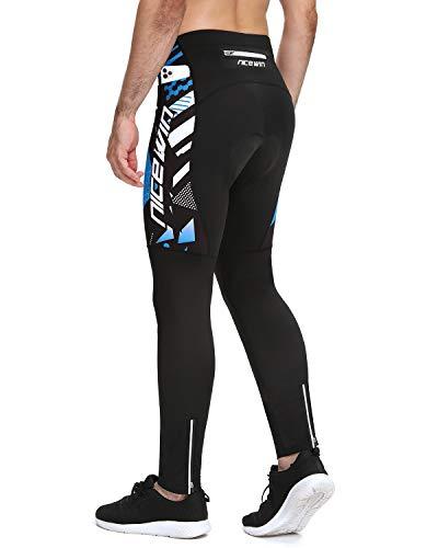 NICEWIN - Pantaloni da ciclismo invernali da uomo, lunghi con imbottitura 4D, pantaloni da ciclismo, termici, lunghi traspiranti, ad asciugatura rapida, elasticizzati, per uomo