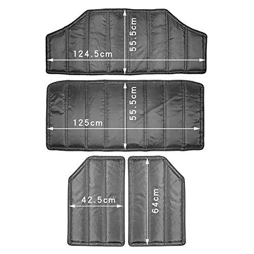 Tür Hardtop Schalldämpfer Isolierungssatz Dickes, langlebiges Dachhimmel Scharniere Wärmeisolierung für 2-Türer / 4-Türer für Jeep Wrangler JK 12-17