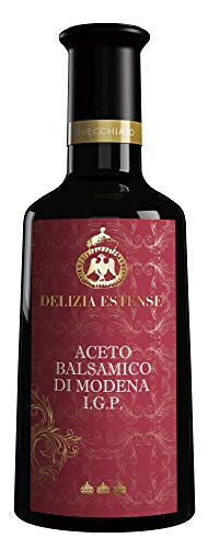 Vinagre envejecido en barrica durante al menos 12 años - Vinagre balsámico de Modena I.G.P. 250 ml - Red Label Delizia Estense