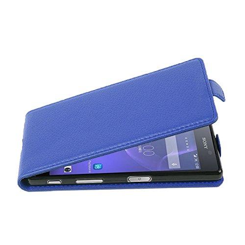 Cadorabo Hülle für Sony Xperia X Performance in KÖNIGS BLAU - Handyhülle im Flip Design aus Strukturiertem Kunstleder - Hülle Cover Schutzhülle Etui Tasche Book Klapp Style