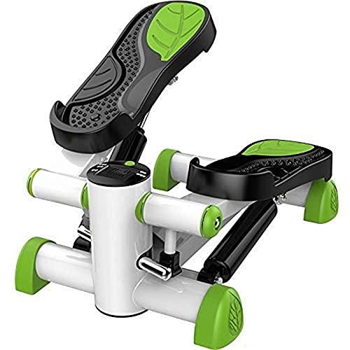 HMBB Plataformas paso Mini de pasos máquina elíptica ejercicio de la aptitud del instructor con antideslizante del pedal ajustable y resistencia magnética HD Display gratuito Quiet Instalación Stand U
