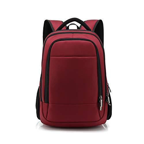 FANDARE Nuevo Mochila para 14 Pulgadas Laptop Bolsa de Escuela Hombre Mujer Mochilas Tipo Casual Bolsos Bolsa de Viaje Niño Adolescentes Knapsack Daypack Gran Capacidad Impermeable Poliéster Rojo