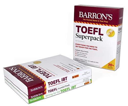 TOEFL Superpack: 3 Books + Practice Tests + Audio Online (Barron's Test Prep)
