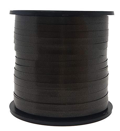 Unique Party 48632-Cinta de Regalo, Liso, Color Negro, 91.44 Meters (48632)